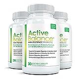 Active Balance (3 bouteilles) avancées de haute activité probiotique supplément - 50 milliards UFC