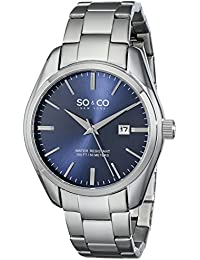 SO & CO New York 5101.3 - Reloj de cuarzo para hombres, plateado