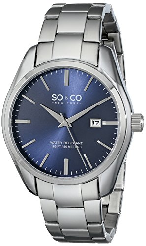 so-co-new-york-madison-mens-quartz-watch-with-blue-dial-analogue-display-and-silver-stainless-steel-