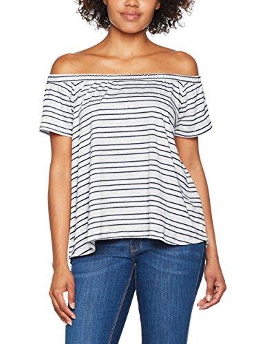 Q/S designed by - s.Oliver Damen 41704324316 T-Shirt, Blau (Navy Stripes 58G0), Large