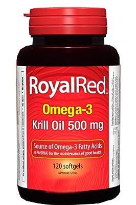 Webber Naturals Royal Red Omega-3 Krill Oil, 500mg, 120 softgels