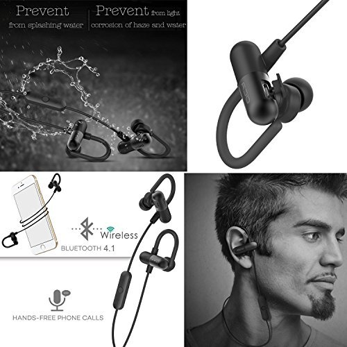 Bluetooth-Headphones-QCY-QY11-Bluetooth-Headphones-with-Memory-Metal-Secure-Ear-Hooks-Wireless-In-Ear-Earbuds-V41-apt-X-Noise-Cancelling-Sweatproof-Sport-Running-Headset-Black