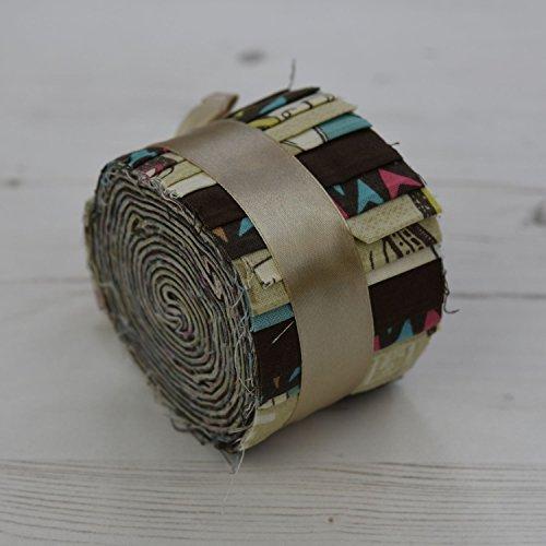 tessuto libertà Globetrotter Sabbia Mini-Rotolo di 20strisce 100% cotone cucito Quilting Craft Tessuto patchwork ogni striscia lunghezza 2,5