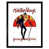 Wee Blue Coo Theatre Stage Burlesque Moulin Rouge Ball Dance Venue Paris Lámina Enmarcada 12 x 16 Pulgadas