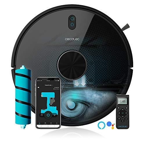 Cecotec Robot Aspirador Conga 5090. App con hasta 5 mapas. Aspira, Barre, Friega y Pasa la Mopa. Alexa y Google Assistant. Cepillo Jalisco. Cepillo para Mascotas. 8000 Pa. 10 Modos. Wi-Fi