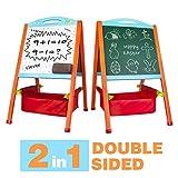 Nuheby Lavagna Cancellabile Magnetica per Bambini in Legno Giochi Legno Doppia Faccia Giochi Educativi per Bambini Ragazza Ragazzo 3,4,5,6 Anni