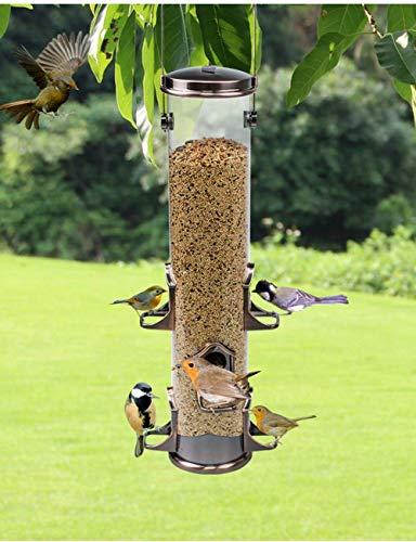Kong EU Herz zum Aufhängen Wild Bird Anleger–MIXED Seed/Sonnenblume/Peanuts feeder-bird Futterspender für Outdoor Garten, Mehr Vögel leicht zu reinigen und Füllen, 6ports - rot