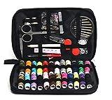 Pingxia Nähzeug mit 90 Accessories Tragbare Nähsets für Anfänger Traveller Erwachsene Mädchen Jugendliche (Schwarz)