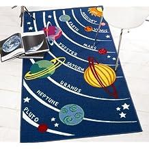 """Kiddy Serpientes Escaleras Play, diseño infantil, color azul amarillo alfombra en 80x 120cm (2'6""""x 4') Alfombra"""