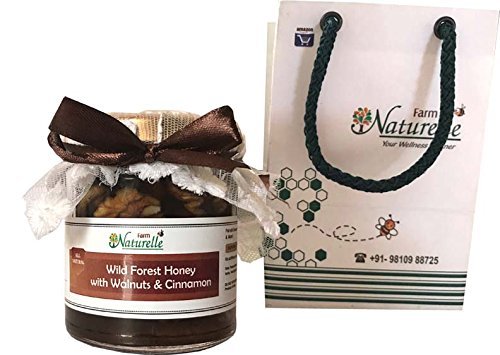 Farm Naturelle-Cinnamon Infused Pure Raw Natural Forest Honey And Big Delicious Walnuts (Akhroot)-250 Gms-Diwali...