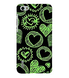 Fabcase black funky love sketch Designer Back Case Cover for Huawei Honor 6 plus
