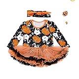 HUBINGRONG Abbigliamento Abiti Halloween Neonata Zucca di Halloween di Natale Vestito Lungo dal Manicotto Pannello Esterno for Bambini (Color : Large)
