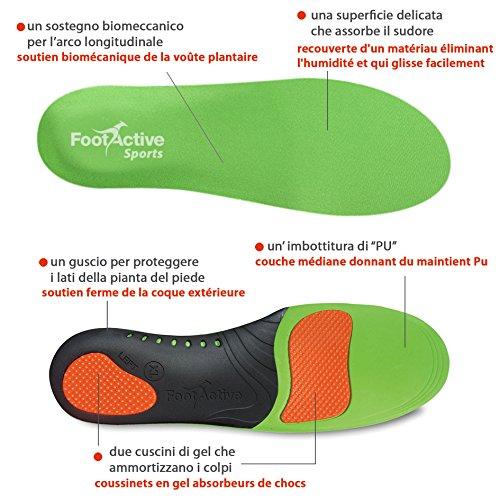 FootActive SPORT - Einlegesohlen für Sport, Freizeit und Beruf - 44 - 45 (L) - 3