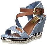 Refresh 64292, Sandalias con Punta Abierta para Mujer, Azul (Jeans), 38 EU