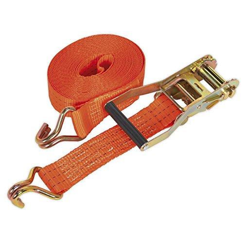 SEALEY td3006j Spanngurt mit Ratsche Polyester webbbing Load Test, 50mm x 6m, 3000kg Kapazität