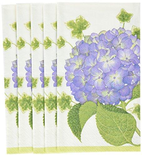 pari Hortensie Gästehandtücher aus Papier (15Pack), Violett ()