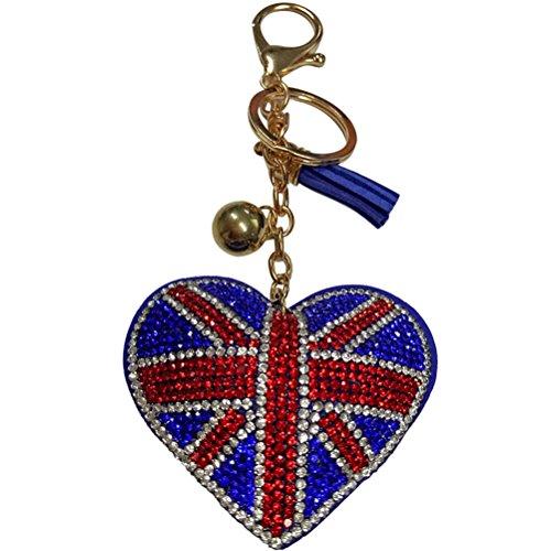 LUOEM Bandera Inglaterra Llavero Llavero Bolso Colgante