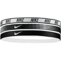 brand new 4353e f9657 Nike Elastici Capelli Tennis Swoosh Sport Printed Hairbands 3PK Nadal  Williams (Black White