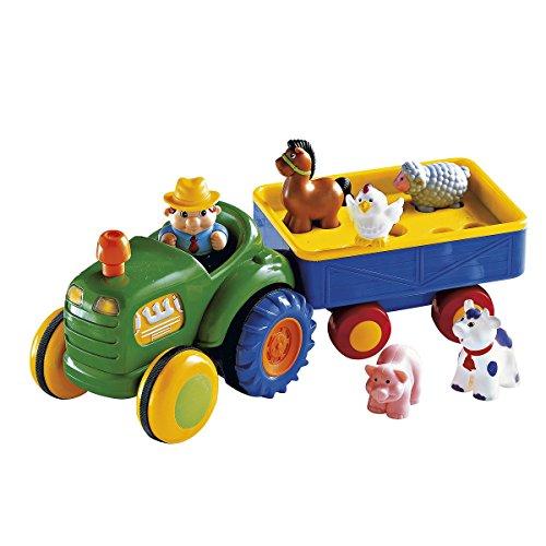 KIDDIELAND Le tracteur avec sa remorque voiture de jeu, multicolore