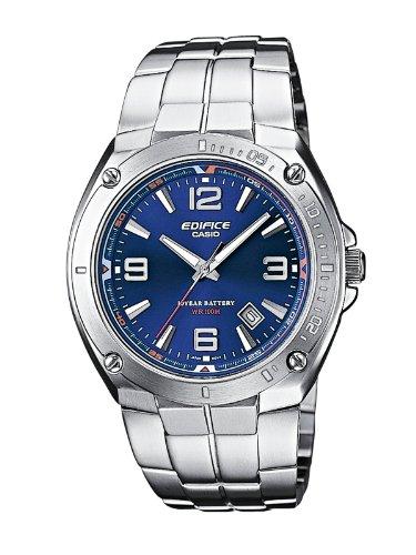 Casio Edifice Herrenarmbanduhr EF-126D-2AVEF, Silber blau, massives Edelstahlgehäuse und Armband, 10 BAR