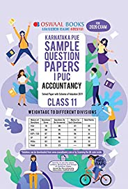 Oswaal Karnataka PUE Sample Question Papers I PUC Class 11 Accountancy Book (March 2020 Exam)