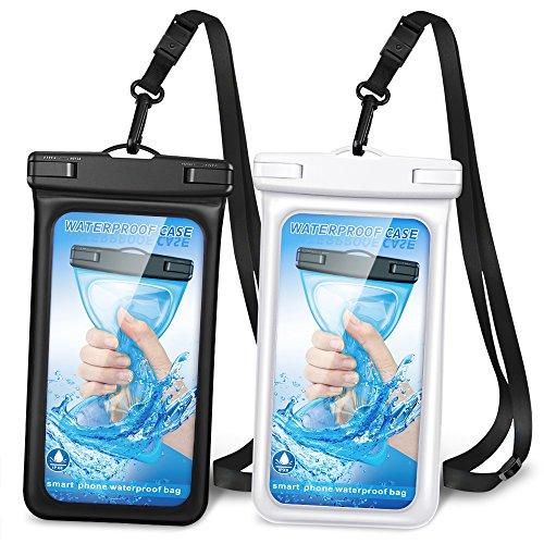 Romanda schwimmfähig Wasserdichte Handy-Schutzhülle, wasserdicht Handy Tasche Unterwasser Trocken Tasche mit Verstellbarer Kordel für iPhone X/8/8PLUS/Samsung S9/S8/Huawei/Sony/Moto/HTC bis 15,2cm