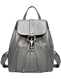 6a76f890b9de4 BOYATU Leder Rucksäcke für Damen Geldbörse Rucksack Schulter Damen Fashion  Daypack
