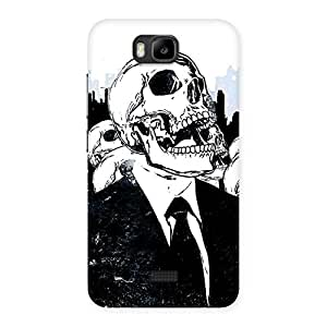 Enticing Skull Laugh Back Case Cover for Honor Bee