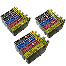 PerfectPrint - 14 compatibles cartuchos de tinta T0715 Para Impresora EPSON STYLUS S20 SX100 SX105 SX110 SX115 SX200 SX205 SX210 SX215 SX218 SX400 SX405 SX410 SX415 SX515W SX600FW SX610FW BX300F S21 SX110 SX115 SX215 SX410 SX415 SX515W SX209 SX405 WiFi D78 D92 D120 DX4000 DX4050 DX4400 DX4