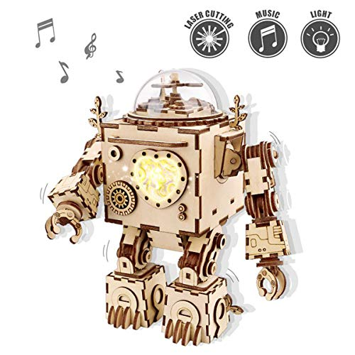 ROKR Puzzle in Legno 3D con Ingranaggi Scatola Musicale Manuale-Modello Meccanico Kit Giocattoli per Bambini o Adulti-Miglior Regalo per i Giorni di Compleanno / Bambini