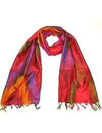 Lovarzi Frauen Seidentuch - Elegante paisleygemusterte Damenseidenschals in Regenbogenfarben