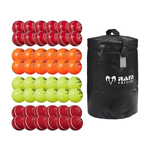 Kricket Junior Cricket-Bälle - 4 Arten Weich & Coach Balle mit Tasche