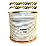 PremiumX BASIC 500 m Koaxial Kabel 135 dB 4-Fach geschirmt