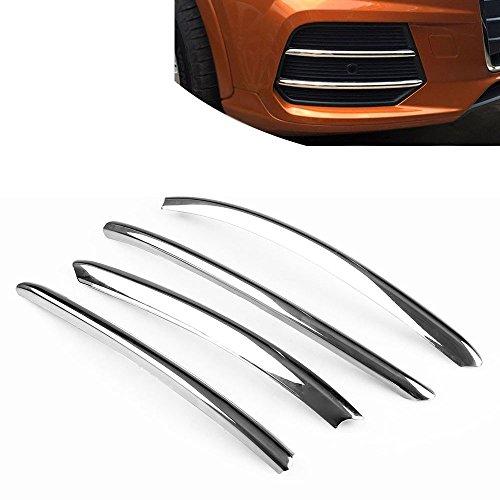ETbotu cromo styling auto fendinebbia anteriori decorative Trim striscia pezzi per Audi Q32016–2017esterno accessori