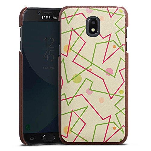 DeinDesign Samsung Galaxy J3 Duos 2017 Lederhülle braun Leder Case Leder Handyhülle 80er 80s Retro -