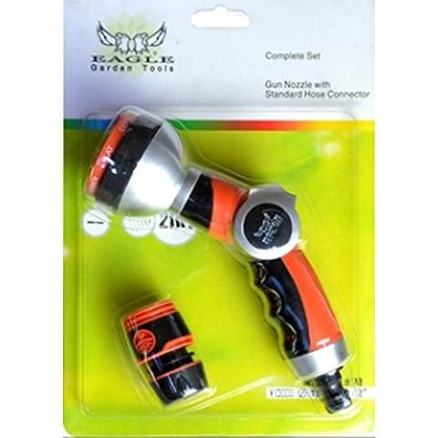 LanLan Multi-Purpose 7-in-1 Spray Gun with Built in Flow Control, Garden Hose Nozzle Sprayer, High Pressure Car Washer For Gardening Watering, Cleaning Patios, Decks