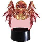 3D Spider Lampe USB Power 7 Farben Amazing Optical Illusion 3D wachsen LED Lampe Formen Kinder Schlafzimmer Nacht Licht