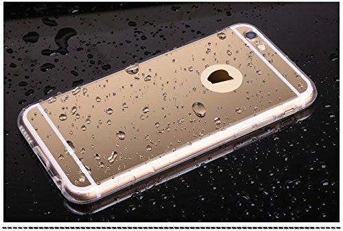 CORST Case Cover TPU Specchio, Custodia protettiva per iPhone 6/6S 4.7 inch(Rosa) Oro
