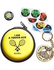 Excellent Cadeau: Keychain de tennis avec raquette de Drôles de pluie et original Amortisseur
