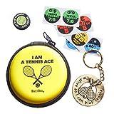 Hervorragender Tennis Geschenk: Schlüsselanhänger mit Funny Schläger Kolben und Original Dämpfer