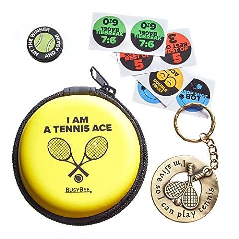 Hervorragender Tennis Geschenk: Schlüsselanhänger mit Funny Schläger Kolben und Original (Valentines Geschenke Idee)