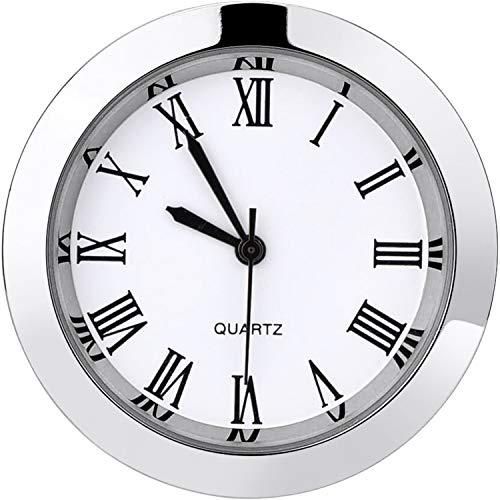 1-1/2 Zoll (37 mm) Runde Uhr aus Quarzuhr mit Römischen Ziffern, für 35 mm Durchmesser (Silber Lünette)