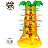 Falling Tumbling Monkey Family Toy, E-SCENERY Tumblin Monkeys Board Game For Kids Adults Family