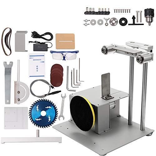 KKmoon 4-en-1 Multifonctionnel Mini Petite Scie à Table Kit Ponceuse Kit Scie Électrique Machine de Coupage Ensemble Main à Bois Banc Scie Modèle Artisanat Coupe Scie