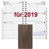 Brunnen Taschenkalender 2019 Senegal A6 9x15cm 10-75632 Kalender 2019 HOCHFORMAT Farbe braun