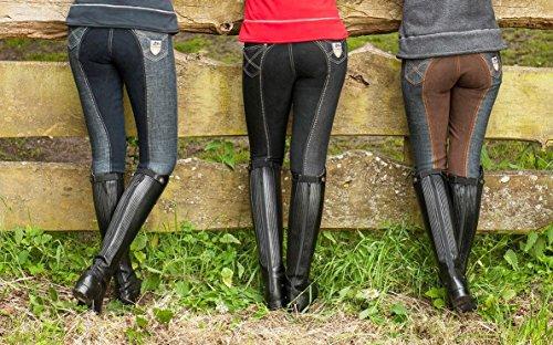 HKM Pantalon d'équitation pour Femme Miss Blink FR:50 Bleu Indigo/cuivre