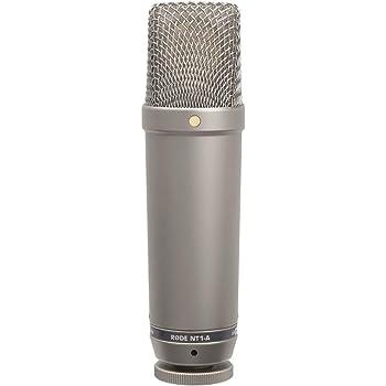 RODE NT1A microfono a diaframma largo per studi di registrazione/podcast, cavo, supporto, filtro anti pop omaggio