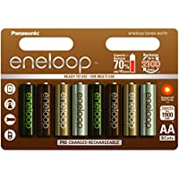 Panasonic eneloop Earth, Ready-to-Use Ni-MH Akku, AA Mignon, 8er Pack, min. 1900 mAh, 2100 Ladezyklen, geringe Selbstentladung, limitierte Sonderedition