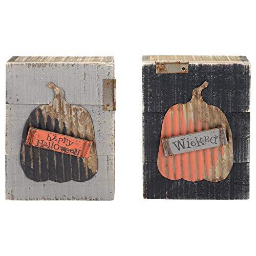 Honig in Me Wicked Fall Medley 8x 7Metall Holz Halloween Block Schilder Set von 2