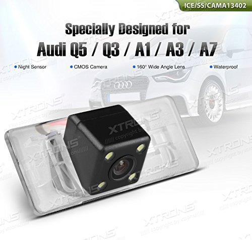 Cámara de marcha atrás con Sensor de oscuridad XTRONS coche CMOS resistente al agua para AUDI A3/A1/A7/Q3/Q5/RS5